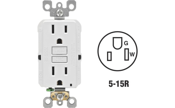 Leviton Self-Test Rounded Corner Outlets